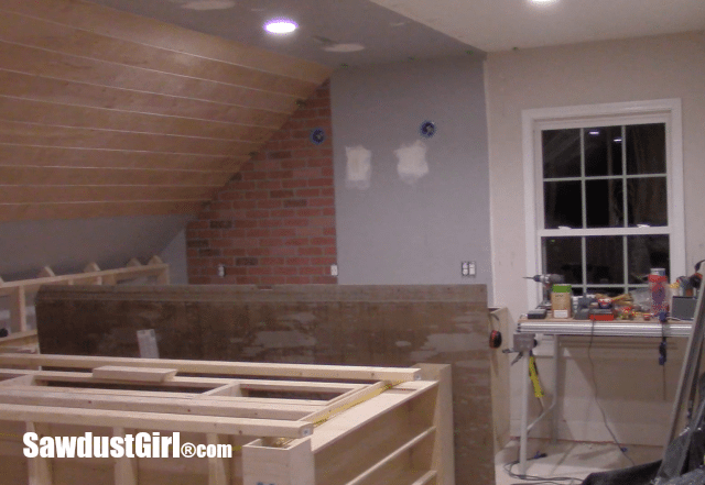 How to create a faux brick and plaster wall.