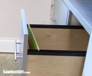 Building Hanging File Folder Drawers