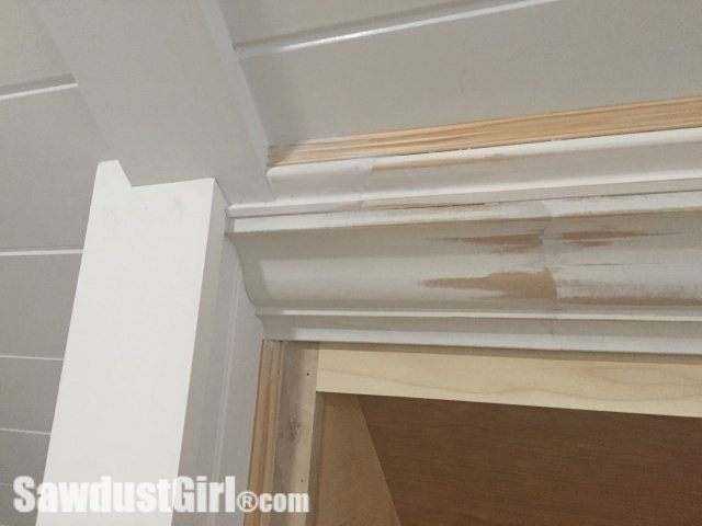 Crown Moulding on Angled Ceiling Seams After