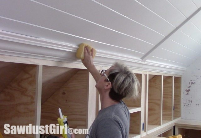 Crown Moulding on Angled Ceilings Finish