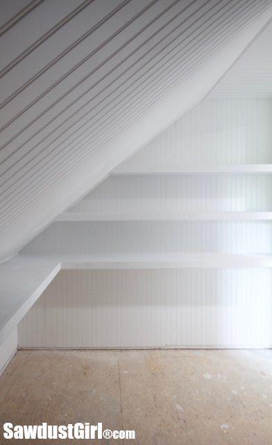 White corner wall shelf