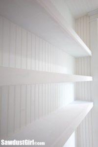Studio Closet Floating Shelves