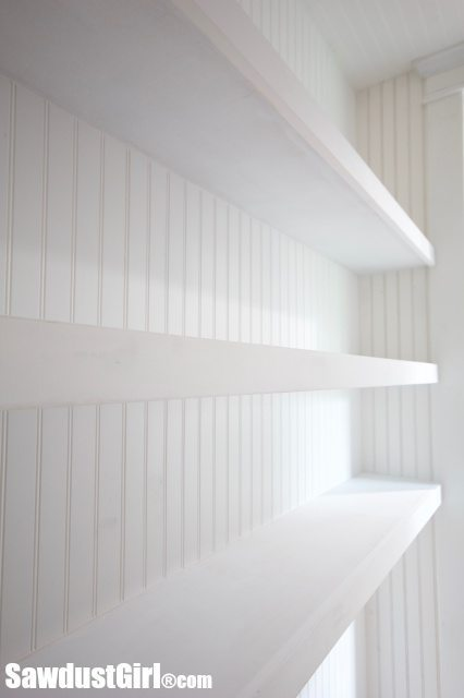 Studio Closet Floating Shelves