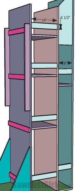Vertical Storage Lumber Cart