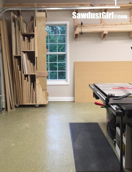garage lumber storage