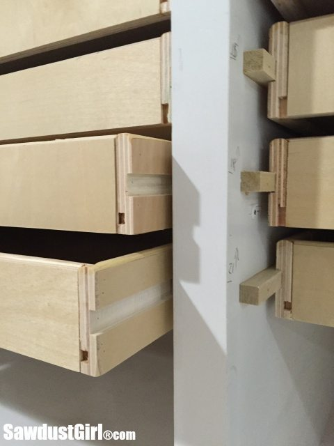 Wood drawer runners