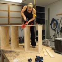 Building kitchen entry cabinets