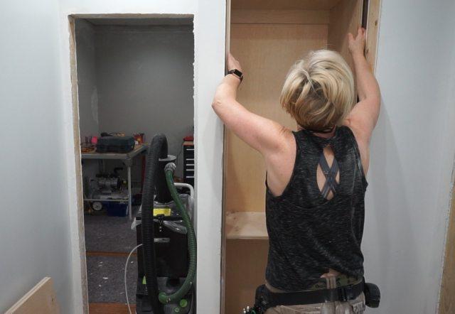 Linen Cabinet and Bedroom Closet