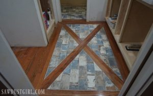 How to install tile flush with hardwood floors.