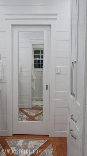 Mirrored Pocket Door Jack And Jill Bathroom Update Sawdust Girl