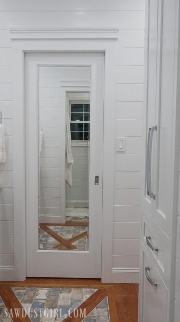 Mirrored Pocket Door Jack And Jill Bathroom Update