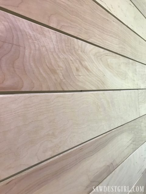 Plywood Plank Wall