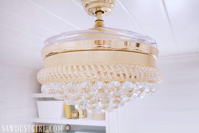 Pretty bedroom ceiling fan chandelier.