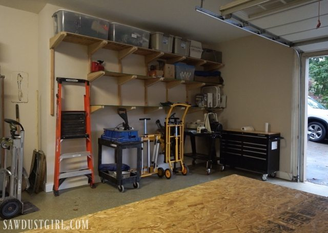 Building Garage Shelves