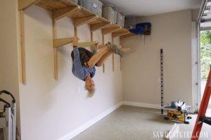 Building garage shelves