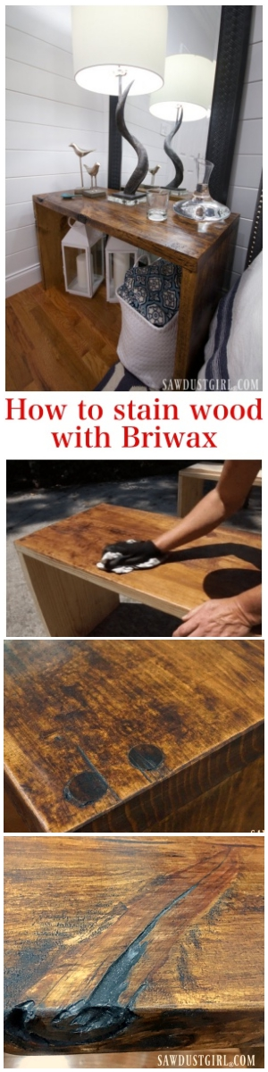 How to stain wood with Briwax
