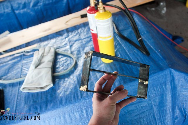 DIY Wood and Metal Table Centerpiece - Learning how to Braze
