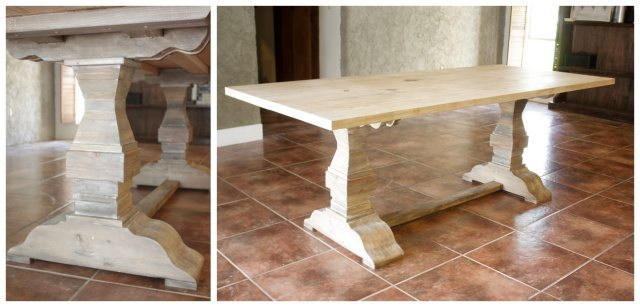Restoration Hardware inspired dining table.