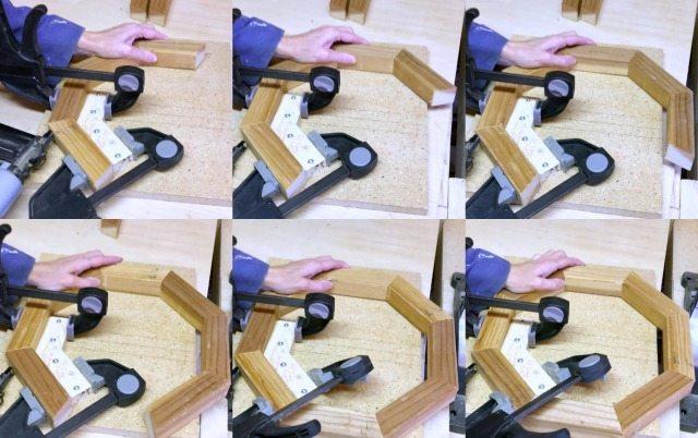 finishing a wood octagon shape on a jig
