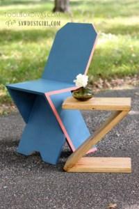 modern plank chair