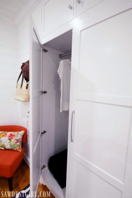 Custom closets built into wall!