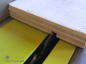 table saw blade making a dado joint