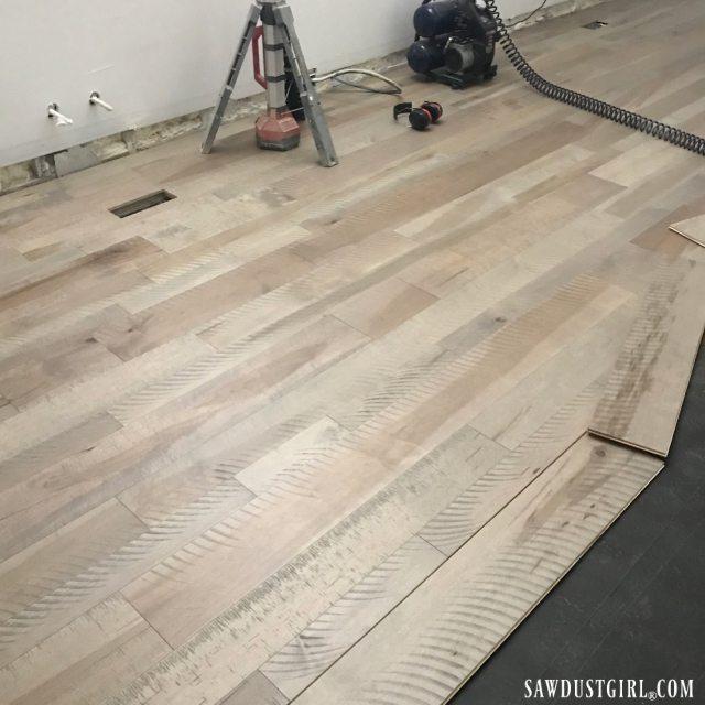 Varying width, plank floors