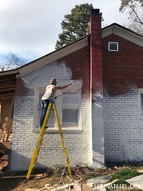 Painting a brick house