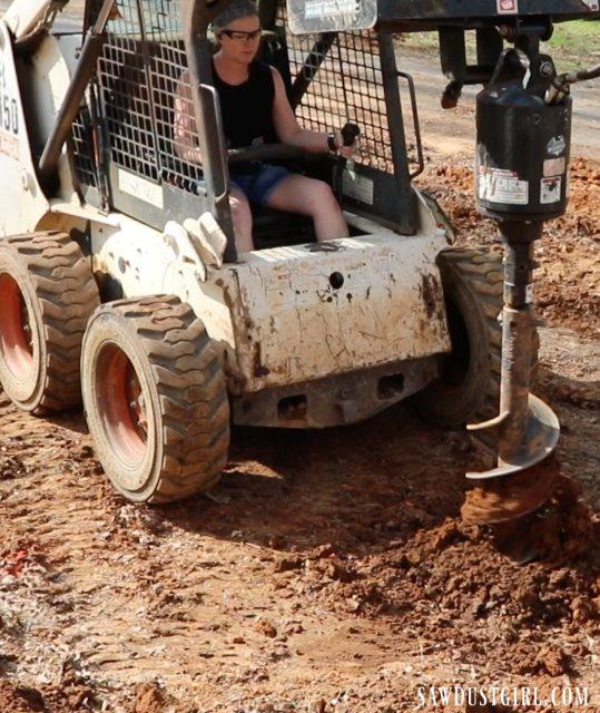 Digging deck footings