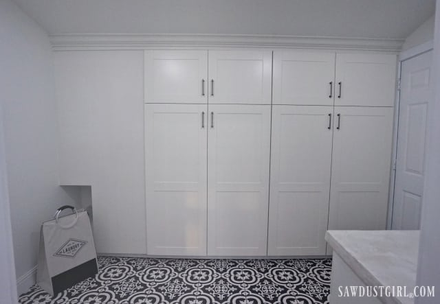 built-in IKEA cabinets