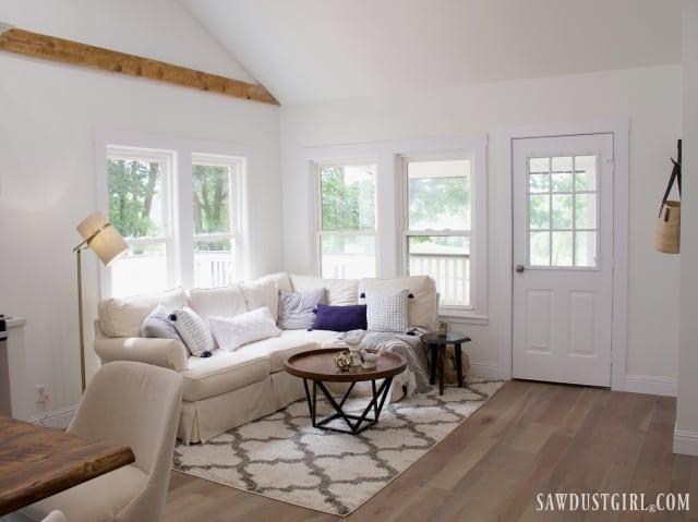 Light, white, living room