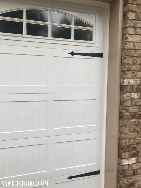 How to clean white strips around garage door with bathroom cleaner