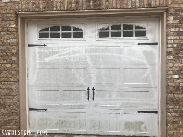 How To Clean A Garage Door And White Rubber Weather Stripping