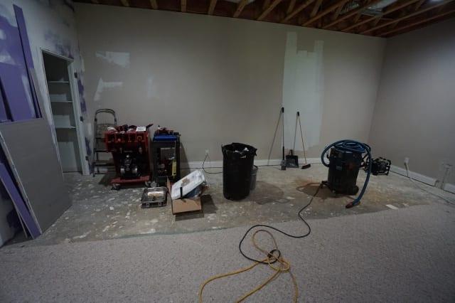 basement carpet removal