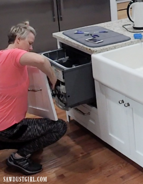 Installing custom panels on dishwasher drawers