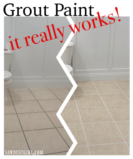 Wow, grout paint really works!