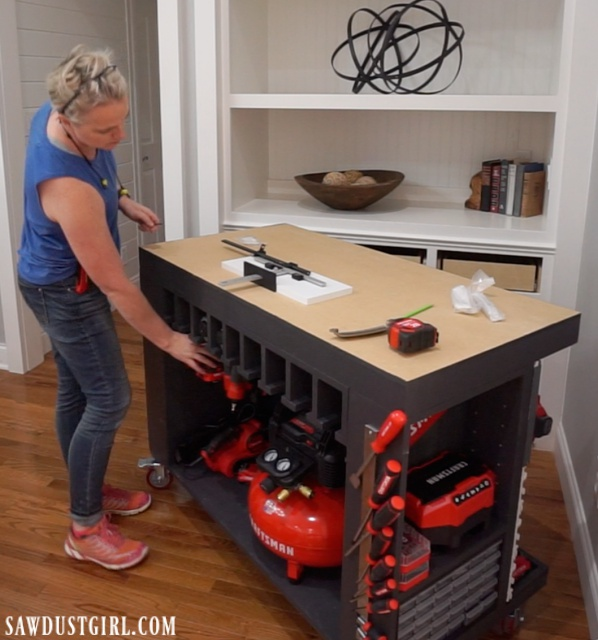 Handy mobile, tool storage, workbench
