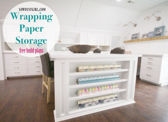Wrapping paper storage cabinet - free build plans