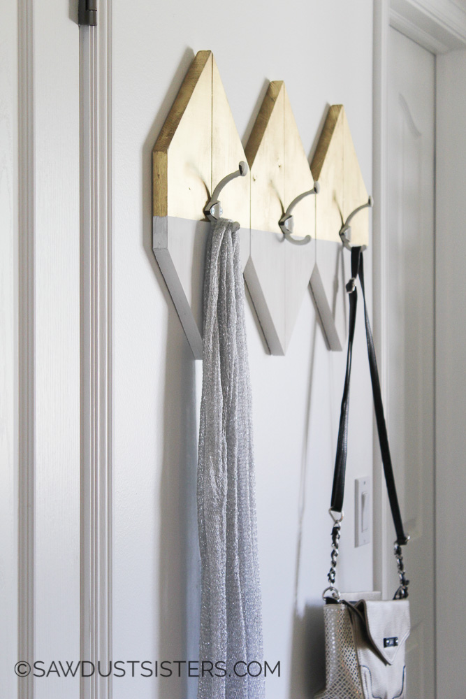 Modern Wall Hooks. SO COOL! Definitely making these for my office!