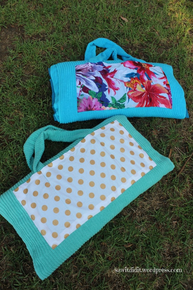 beach towel with pillow saw it