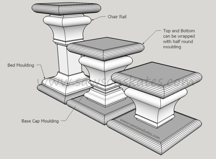 Candle Holder with moulding sos