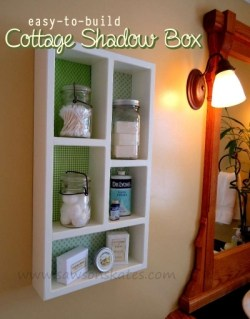 How to make a Cottage Shadow Box - Free Plans