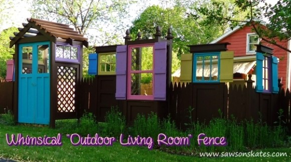 Whimsical Outdoor Living Room Fence sos