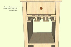 How to make a DIY Wine Cabinet Drawer - Free Plans