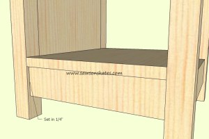 How to make a DIY Wine Cabinet Front Rail Assembly- Free Plans