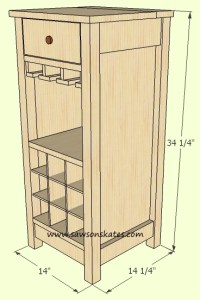 How to make a DIY Wine Cabinet Measurements - Free Plans