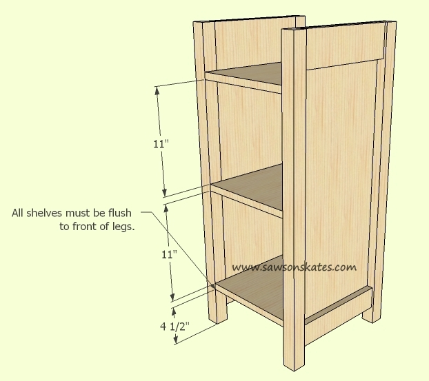 How to make a DIY Wine Cabinet Shelf Spacing - Free Plans