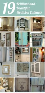 19 Brilliant and Beautiful Medicine Cabinet ideas. Plans to be new cabinets and ideas to recycle, repurpose, upcycle objects into new cabinets.
