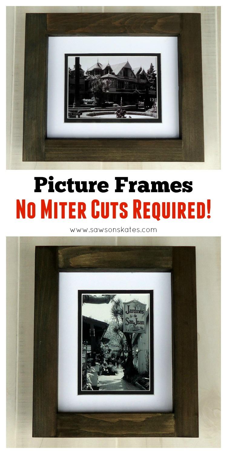 DIY No Miter Cut Picture Frame