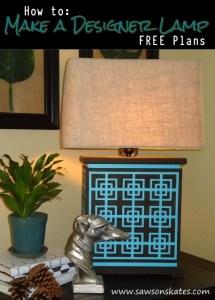 How to: Make a DIY Designer Lamp – FREE Plans!